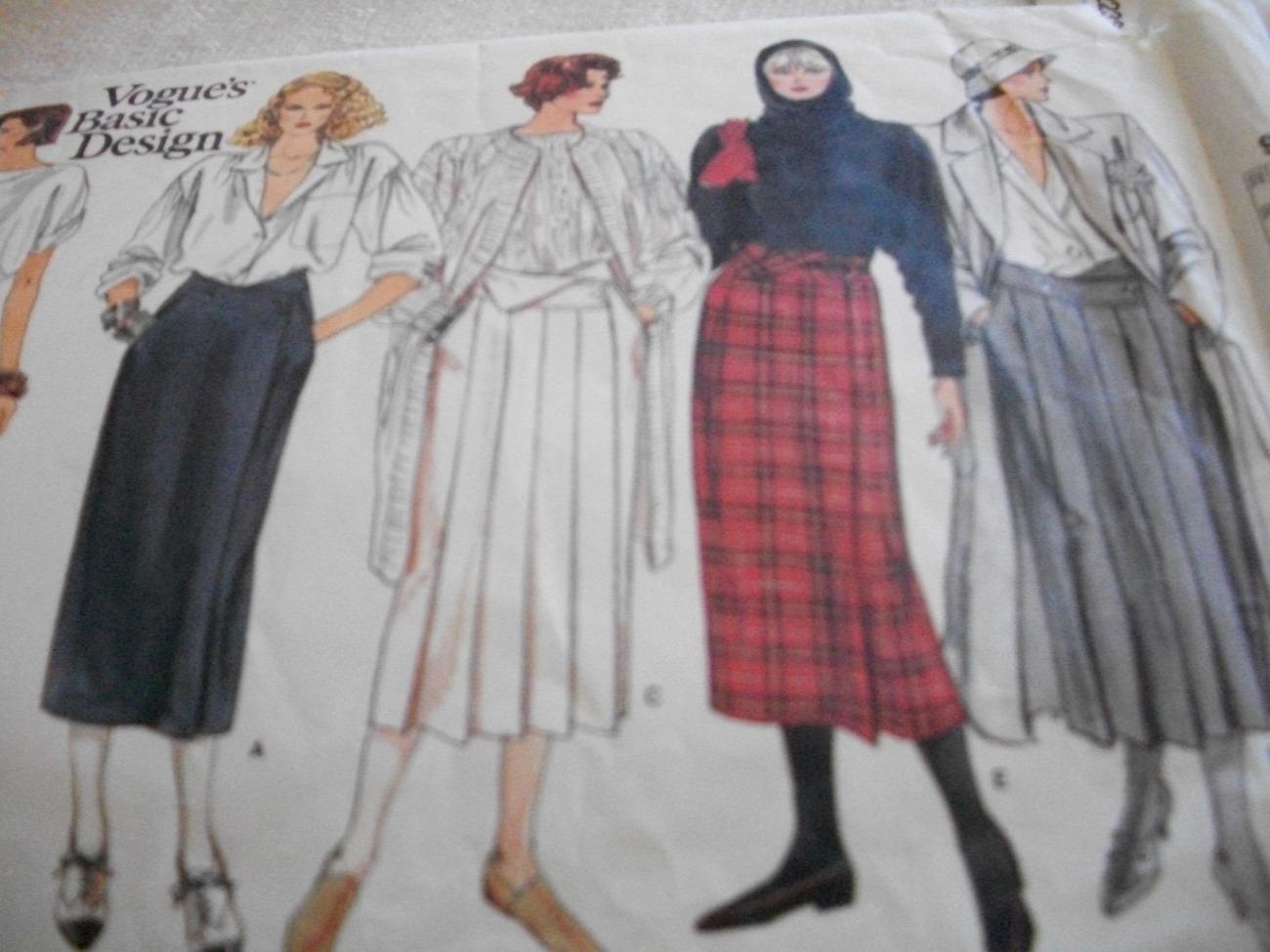 Woman's Skirt Pattern Vogue Basic Design 1466