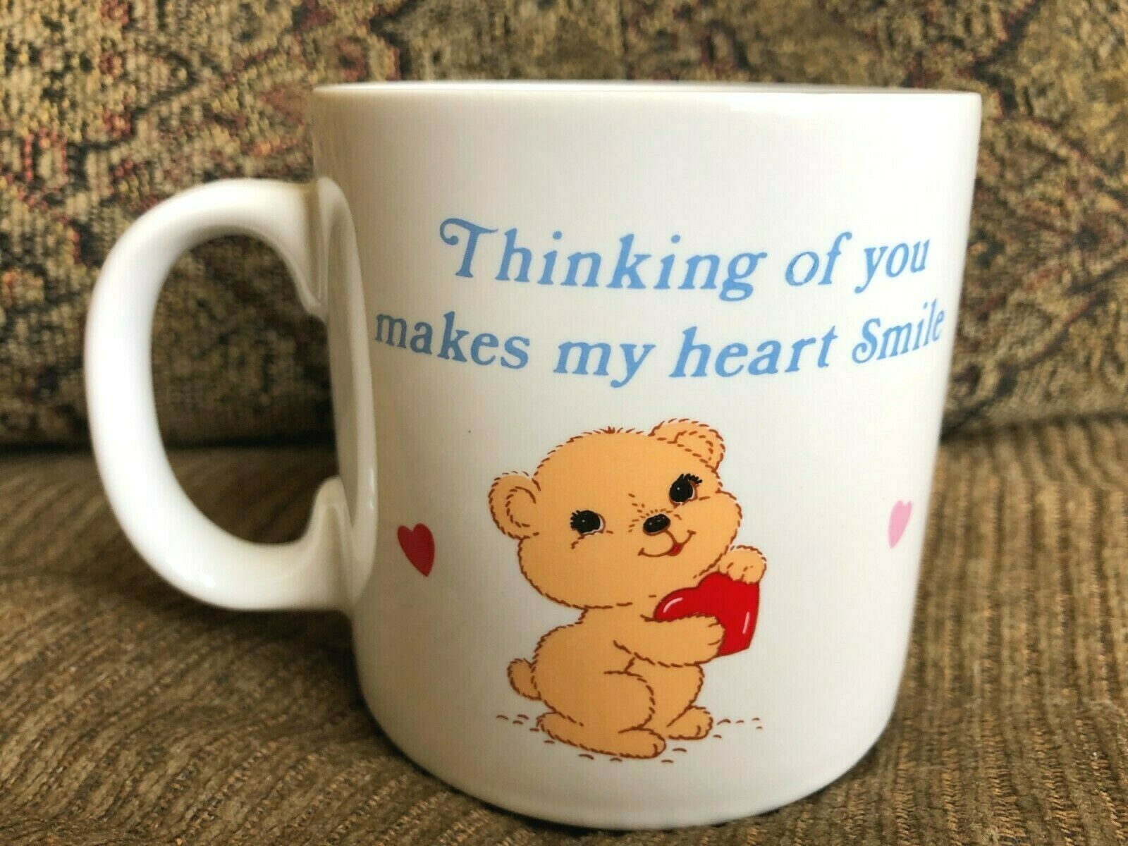 Primary image for RUSS Berrie & Co. Thinking Of You Makes My Heart Smile Bear & Heats Coffee Mug