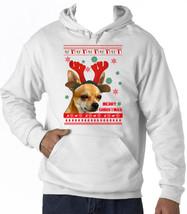 Merry Christmas Chihuahua - New Cotton White Hoodie - $38.02