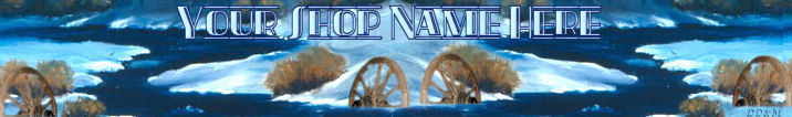 Primary image for Web Banner Wagon Wheel Snow Stream Custom Created 112a