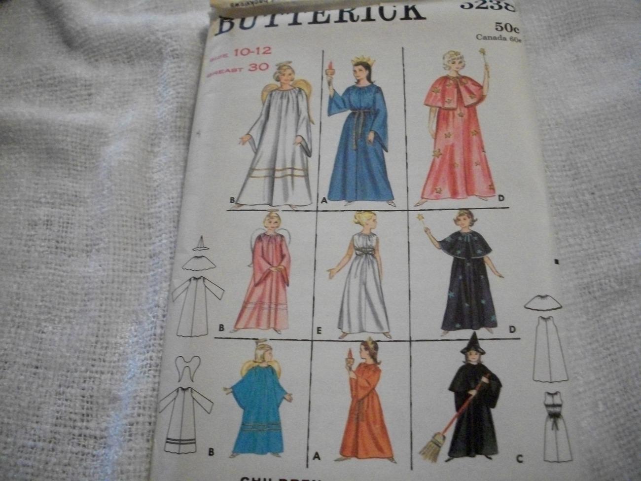 Vintage Woman's Costume Pattern Butterick 3238