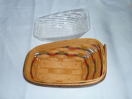 Longaberger 1998 Small Sleigh Basket Combo Protector Liner Wrought Iron Runner image 10