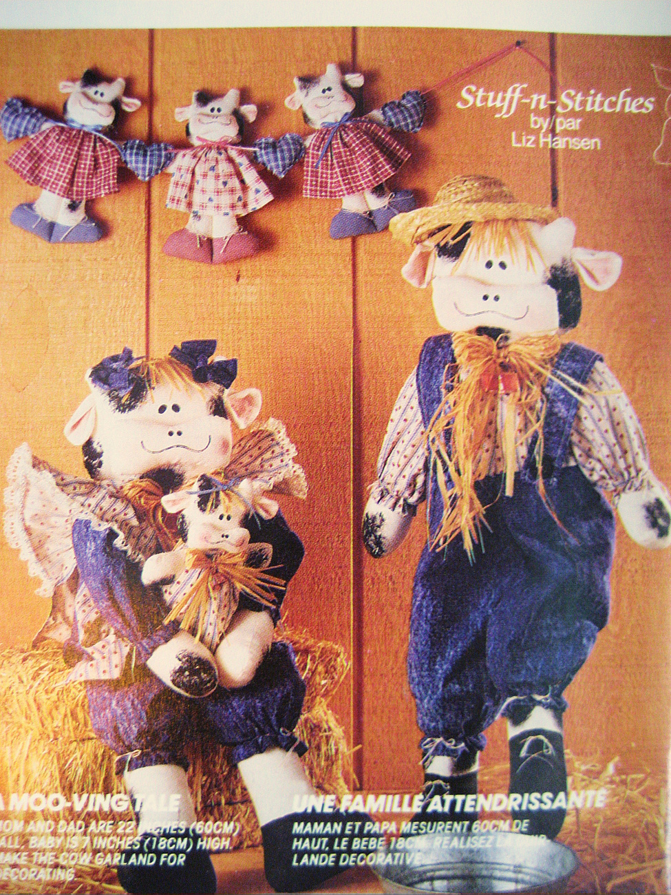 McCall's 829 Decorative Cows Pattern Mr and Mrs Cow with Babies