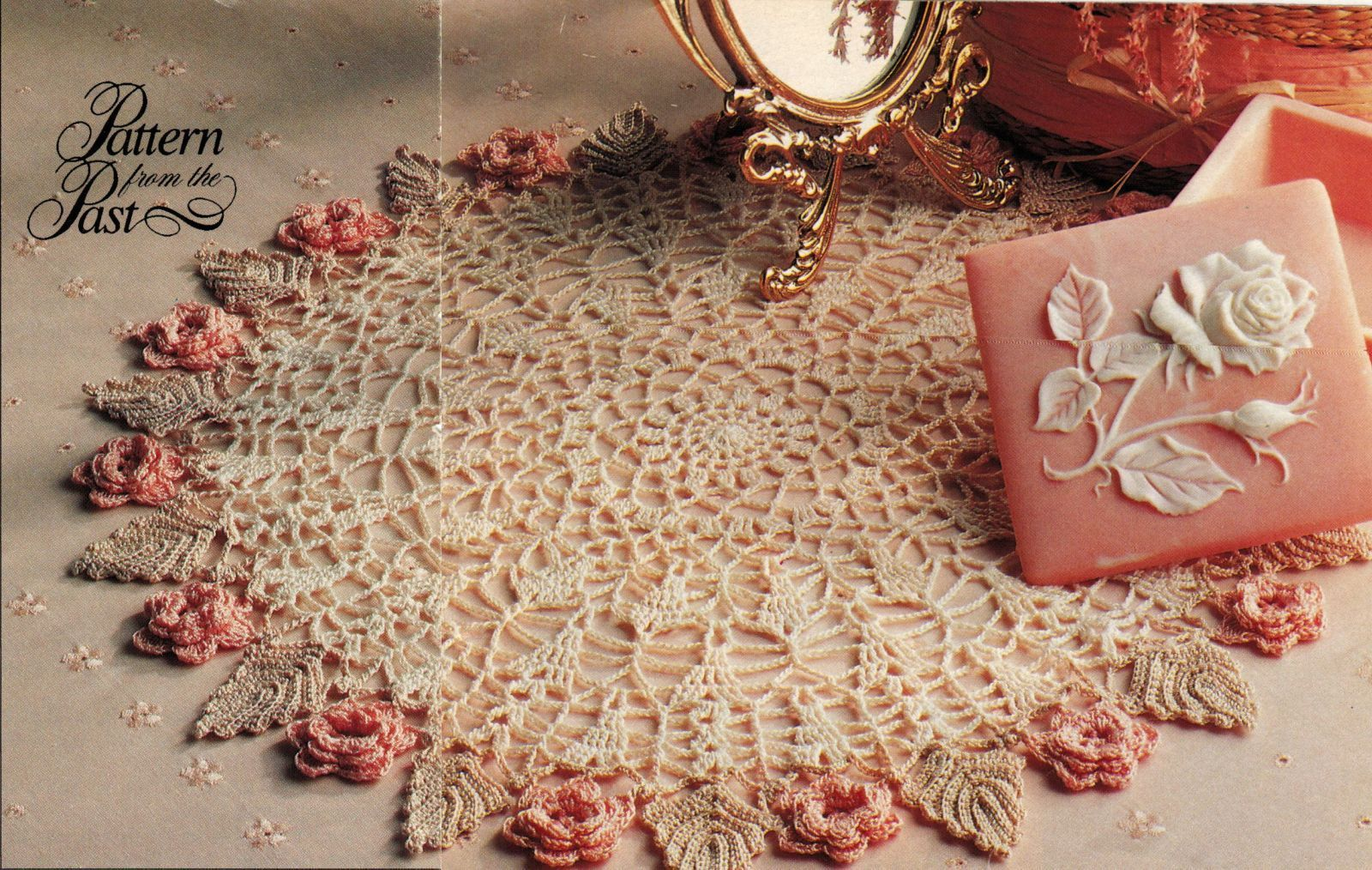 3X  From The Past Flower Doily Motif Bedspread Log Cabin Afghan Crochet Pattern