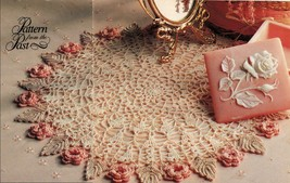 3X  From The Past Flower Doily Motif Bedspread Log Cabin Afghan Crochet ... - $6.99