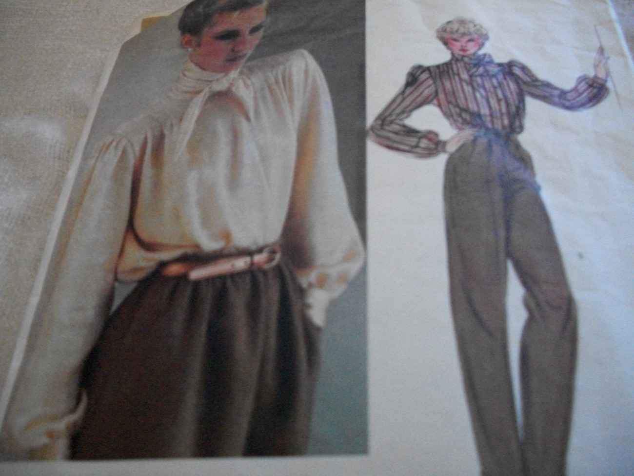 Woman's Blouse Pattern Vogue 2611 Anne Klein