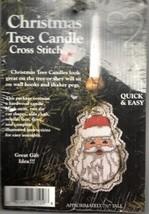 Christmas Cross Stitch Kit Santa Tree Candle Whats New Inc DIY Needlecraft - $12.13