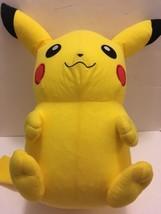 "Pokemon Pikachu GIANT LARGE Stuff Plush Doll 24"" Tall Toy Factory Brand - $28.70"