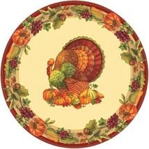 "Joyful Thanksgiving 60 7"" Dessert Plates Value Pack Fall Turkey - $12.86"