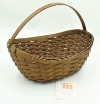 Longaberger Rich Brown Oval Basket Large Crocus Single Handle 2007 - $129.99