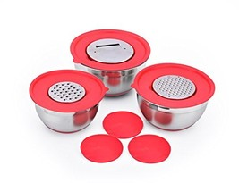 SH&G Stainless Steel Mixing Bowl Set with Non-Skid Bottom - Comes with l... - $598,55 MXN