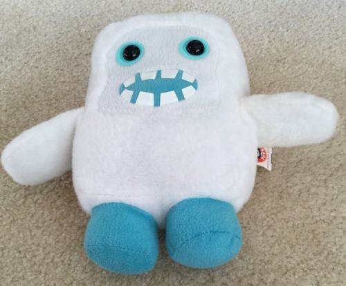 "Primary image for Peek a Boo White Plush Cubies Monster Four sides of Stuffed Fun EUC Clean! 8"" T"
