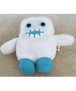 Peek a Boo White Plush Cubies Monster Four sides of Stuffed Fun EUC Clea... - $13.99