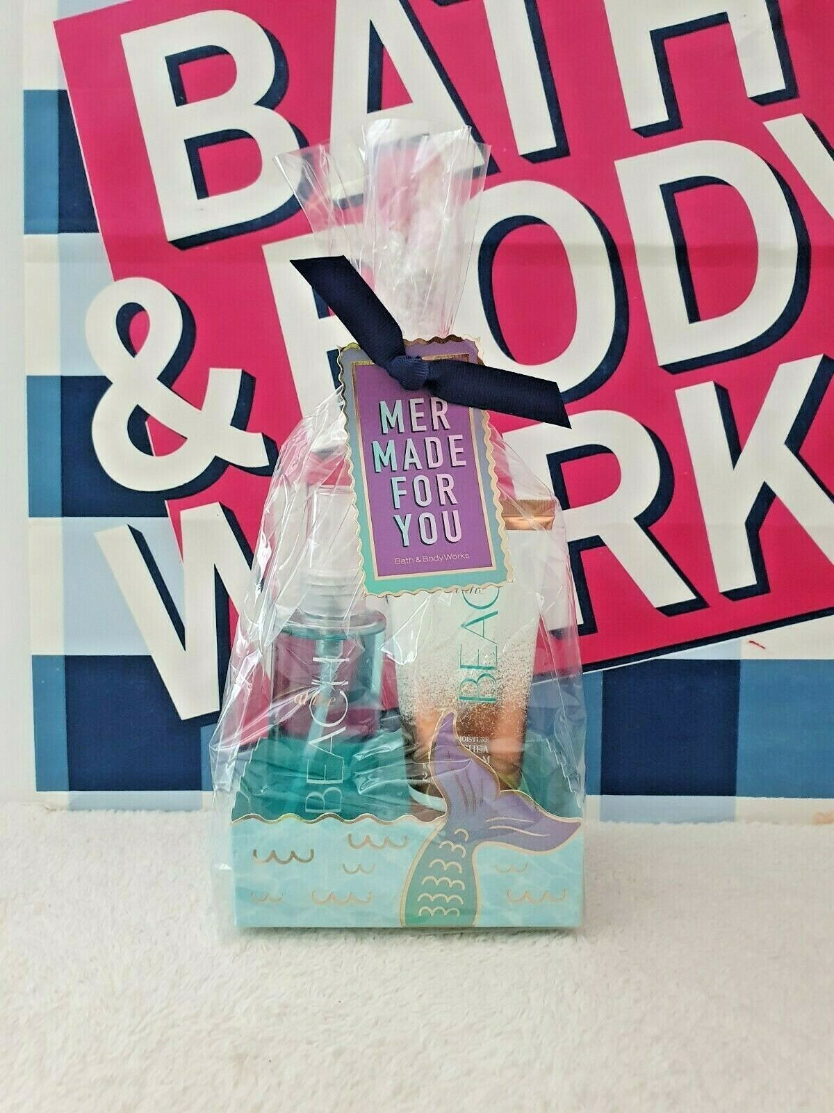 Primary image for New Bath & Body Works Mermaid for you! At the Beach Travel Size 2 Pc Gift Set