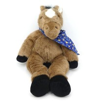 "Build A Bear Horse Plush Stuffed Animal Brown Forehead Star Bandana 17"" - $14.00"