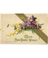 Best New Years Wishes John Winsch Vintage 1925 Post Card - $4.00