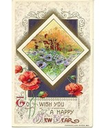 Happy New Year John Winsch Vintage Post Card  - $4.00