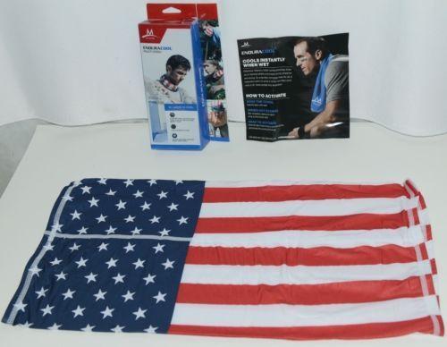 Mission 108065 Enduracool Multicool USA Flag Design UPF 50