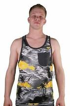 Von Zipper Jarhead Maglia Tasca Hawaii Canottiera Muscolo Spiaggia Camicia