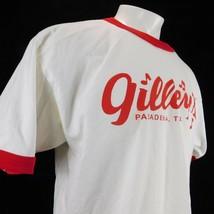 Gilley's Pasadena Tx Men White Ringer T Shirt Alsytle Sz XL - $38.99