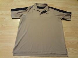 Men's Under Armour XL Tan & Black S/S Polo Shirt - $23.36