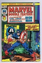 Marvel Double Feature #11 ORIGINAL Vintage 1975 Marvel Comics Captain Am... - $14.84