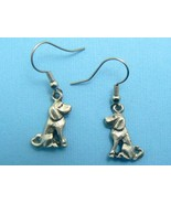 Sitting Dog Earrings - Pewter (SP) - $6.95