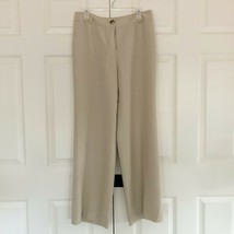 NWT ANN TAYLOR Audrey Career Trousers light tan wool/rayon sz 10 - $18.48