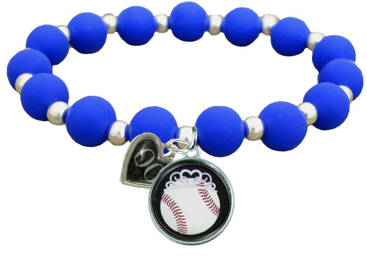 Primary image for Custom Baseball Princess Silicone Stretch Bracelet Choose Number Team Color 0-25