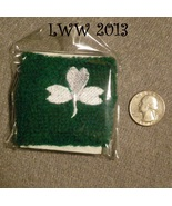 Green and White Shamrock Sweat Band Wristband St. Patrick's Day Irish  - $2.50