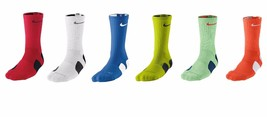 New Nike Elite Cushioned CREW Basketball Socks SX3629 Choose Size & Color Tennis - $12.95