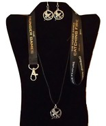 Hunger Games Mockingjay Adjustable Necklace Earrings Lanyard Set of 3 Ha... - $19.99