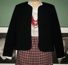 Career Wear Basic Black Fitted Bolero Fully Lined Jacket-Sz 8 - $7.99