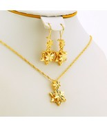 Five-pointed star Jewelry Sets Ethiopian Dubai Wedding Bride Necklace/Pe... - $21.12