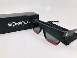 NEW DRAGON Sunglasses DR FAKIE 010 Matte Black & Red with Grey Lenses - $69.25