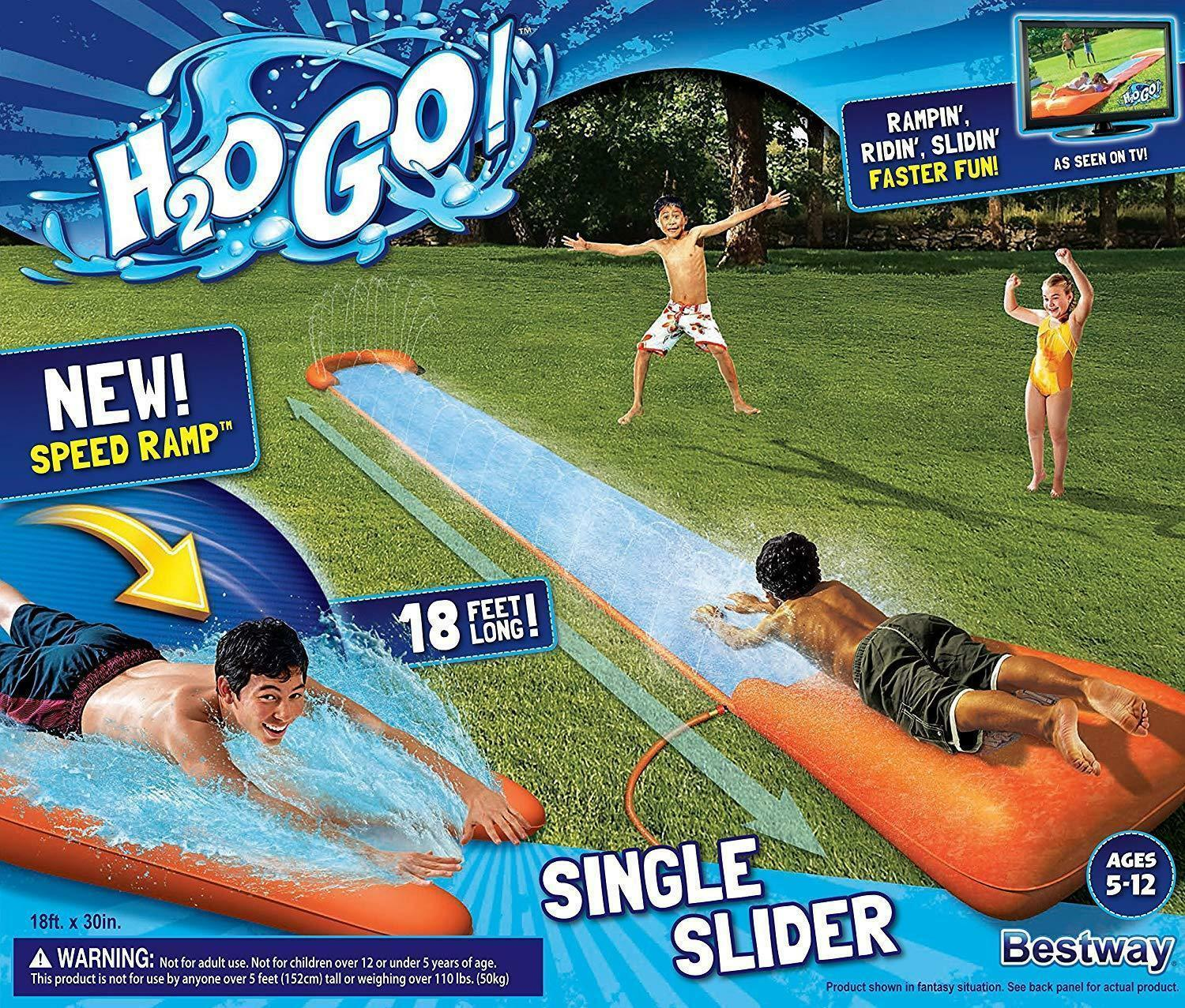 H2O Go Water Slider 18' Outdoor Inflatable water Slip Slide Summer Toy Bestway