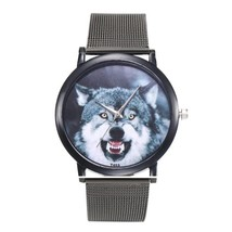 Women 40mm Timber WOLF Slate grey Steel mesh Analog Quartz Wrist Watch NEW - $11.26