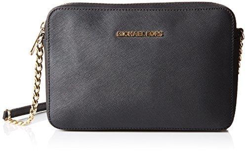 MICHAEL Michael Kors Women's Jet Set Cross Body Bag (Black)