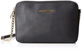MICHAEL Michael Kors Women's Jet Set Cross Body Bag (Black) - $150.22
