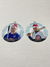 2020 Topps Holiday Mega Ornament Cards Chicago Cubs Nico Hoerner And Jav... - $12.19