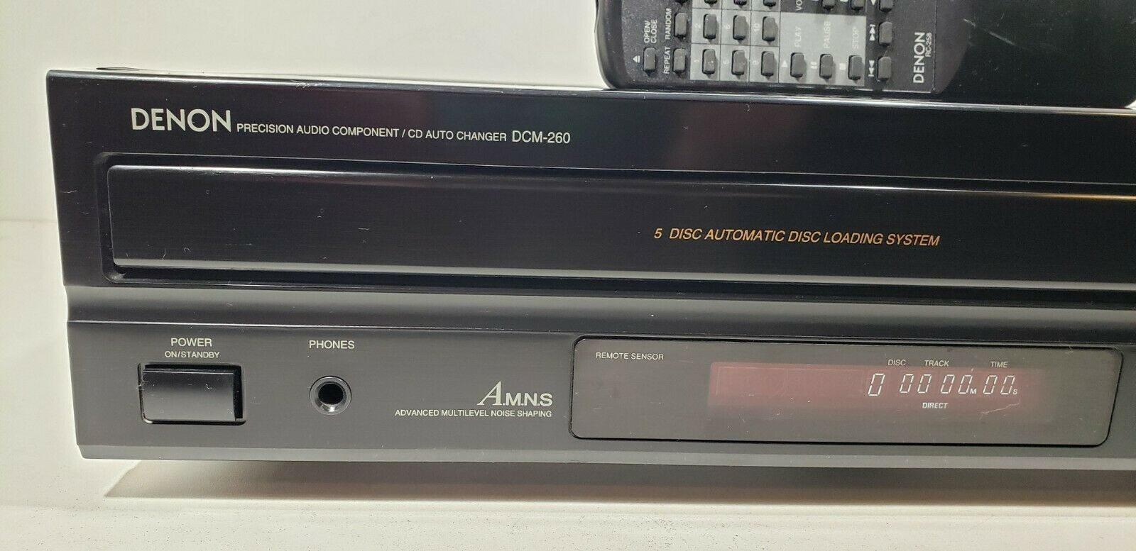 Denon 5- Disc Precision Audio CD Changer DCM-260 With Remote...Tested