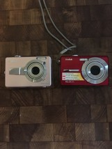 Lot Of 2 Digital Cameras Sanyo VPC-E760 Kodak M1063 - $9.90