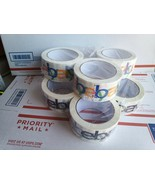 NEW 6 Rolls eBay Tape Branded Logo Black Color BOPP Shipping Packaging 2... - $9.99