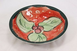 "Studio 33 Xmas Holly Bowls 8.5"" Set of 4 image 2"