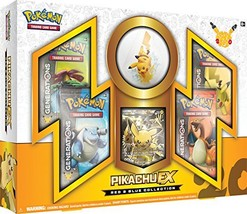 TCG: Collection Pikachu-EX Card Game, Red/Blue - $72.93