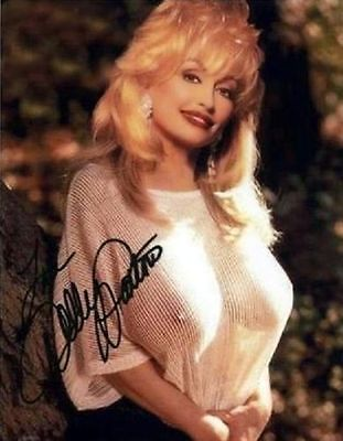 Dolly Parton (Candid) I Will Always Love You RARE NUDE SEE THRU SIGNED RP  8.5x1