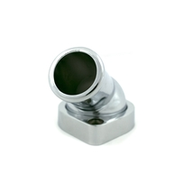 A-Team Performance 45° Swivel Water Neck Thermostat Housing Chrome Aluminum Comp image 2