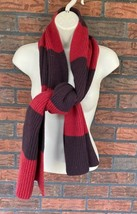 Gap 100% Lambswool Striped Scarf Red Stripes Lambs Wool Wrap Around Neck... - $9.80