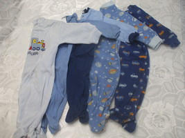 Lot 5 Baby Rompers 6-9 Months Cotton Blends - $11.98