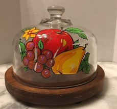 Vintage Glass Cloche Dome Covered Cheese Board ... - $19.79